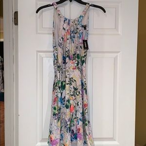 EXPRESS high neck floral dress